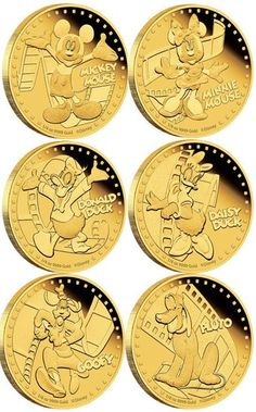#Mickey&Friends 2014: 1/4 oz GOLD coins from http://www.newzealandmint.com