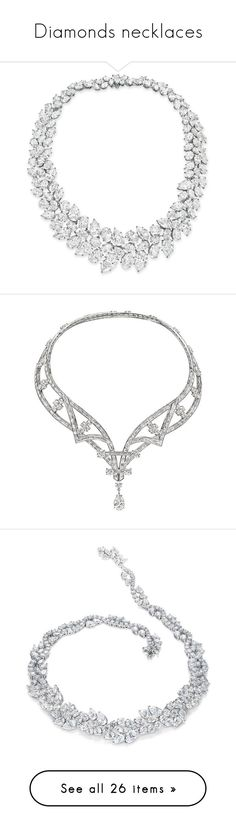 """""""Diamonds necklaces"""" by fiction-928 ❤ liked on Polyvore featuring jewelry, necklaces, diamond jewellery, diamond necklace, diamond jewelry, jewels jewelry, jeweled necklace, accessories, harry winston jewelry and harry winston"""