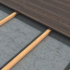 A estrutura de apoio será constituída por barrotes de madeira com tratamento adequado (ou estrutura metálica). Caso o piso apresente desníveis ou alguma inclinação, aconselha-se a utilização de pedestais termoplásticos, facilmente reguláveis em altura, atenuando as diferenças existentes. Solicite um orçamento grátis. www.pimacon.pt