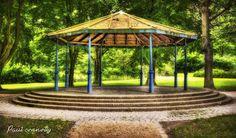 The bandstand in st helena's park Dundalk Co Louth Ireland St Helena, Gazebo, Ireland, Saints, Outdoor Structures, Park, Inspiration, Biblical Inspiration, Kiosk