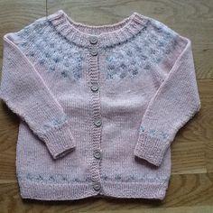 Babytrøje i alpaka, pudder, grå og råhvid