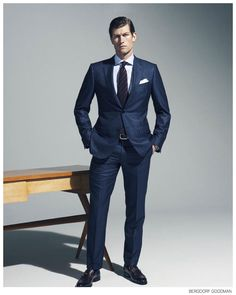 Bergdorf Goodman Highlights Fall 2014 Suiting Business Styles image Bergdorf Goodman Fall 2014 Mens Suiting Ermenegildo Zegna Suit 006