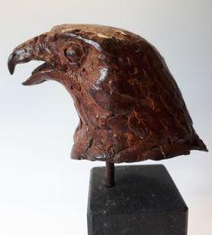 Woestijnbuizerd Harris Hawk (brons)