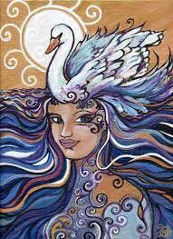 Swan, Art Drawings, Abstract, Summary, Swans, Art Paintings