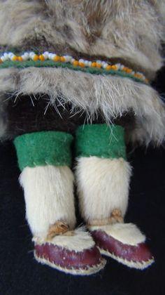 Old Native American Alaska Alaskan Yupik Inupiat Indian Carved Eskimo Doll Fur | eBay