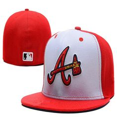 2852a482ebb Atlanta Braves Medium Raised Embroidery Letter Fitted Hat Structured Fit  Classic on-field High Crown Baseball Cap
