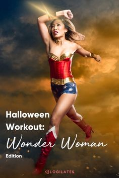 Try this fat burning workout and pilates workout with this PIIT workout inspired by Wonder Woman! Perfect for Halloween or any other time of year! This super hero workout is a total body workout and full body workout.