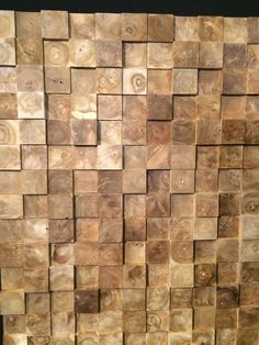 bespoke wood block wall. | manifestation & wall designs