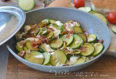 Zucchine in padella con speck e stracchino ricetta veloce