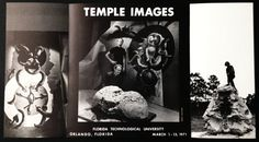 Lotz Eyfells Temple Images Exhibition Drawings Sculptures 1971 UCF aka Florida Technical University Modern Abstract Surrealist