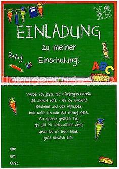 8 Einladungskarten Einschulung Schulanfang 1. Schultag Einladung