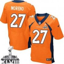 Nike Broncos #27 Knowshon Moreno Orange Team Color Super Bowl XLVIII Men's Stitched NFL New Elite Jersey