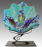 Teal Shell Sculpture