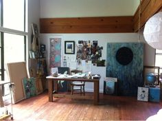 Rebecca Rebouche studio-if they could all look this tidy!
