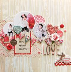 #papercraft #scrapbook #layout LOVE