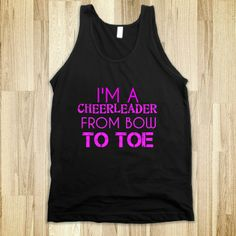 Supermarket: I'm A Cheerleader From Bow To Toe from Glamfoxx Shirts
