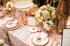 Recently Luxe teamed up with wedding event designers Bella Vita Events and Greenwich Floral Design to craft a ballroom delight rose gold glamour wedding.