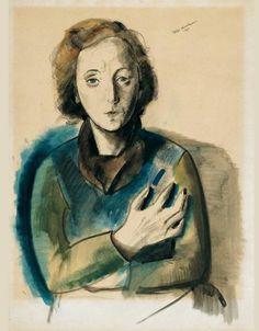 'Portrait of Felka Platek with Arms Crossed', 1940 - Felix Nussbaum (1904–1944)