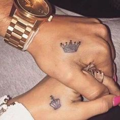 couples, cute, matching tattoos, his princess, her prince, lovestuff