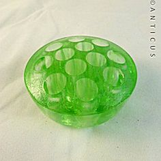 Shape - Flower Frog - Green Depression Glass