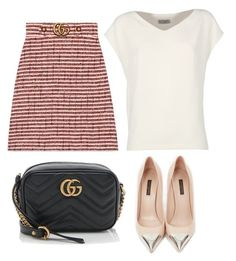 """""""Untitled #93"""" by adridan on Polyvore featuring Gucci, Alberto Biani and Louis Vuitton"""