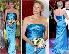 La Princesse, dans une robe de Patrice Papa, le Bal de la Croix Rouge, 2013