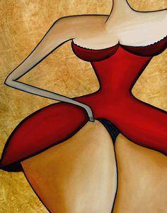 Fidostudio Painting - Seductress by Tom Fedro - Fidostudio
