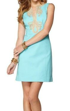 Lilly Pulitzer Janice Shift Dress in Shorely Blue