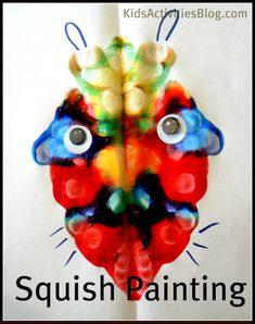 "For Make Believe theme - monster squish art - ""No-Mess Monster Craft -Repinned by Totetude.com"""