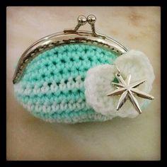 Porta-moedas em crochet