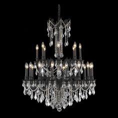 "Rosalia 36"" Crystal Foyer Pendant Chandelier with 24 Lights"