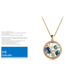 Hollow Out Circle Brand Crystal Necklace China jewelry Cheap Necklace Fashion Jewelry Wholesale