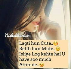 riGht Ummu khan Attitude Thoughts, Funny Attitude Quotes, Cute Funny Quotes, Attitude Quotes For Girls, Girl Attitude, Deep Thoughts, Funny Jokes, Cute Quotes For Girls, First Love Quotes
