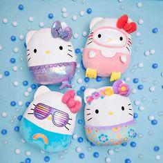 Cute Plush, Sanrio Hello Kitty, Cat Toys, Tween, Cuddling, Kids Toys, Branding Design, Mermaid, Floral