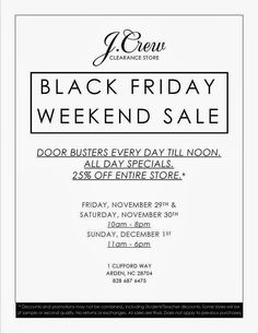 Black Friday Email | JCrew