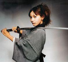 asian, blade, girl, gray, grey, katana