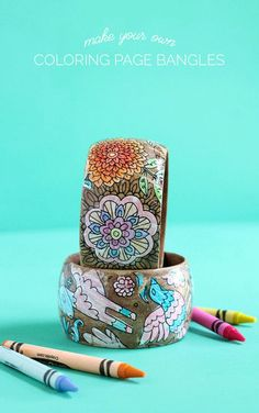 How to use your coloring pages to make jewelry – Recycled Crafts Learn how to make your own fashion jewelry. Mothers Day Crafts, Mother Day Gifts, Gifts For Mom, Jewelry Kits, Jewelry Making, Diy Jewelry, Jewelry Tools, Jewelry Ideas, Jewelry Design