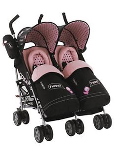 Beautiful Pink Pushchairs Double Baby Buggy For Twins