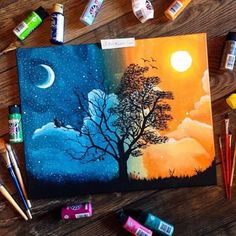 35 Stunning and Beautiful Tree Paintings for your inspiration - Art Sketches - Art Journal Inspiration, Painting Inspiration, Design Inspiration, Journal Ideas, Daily Inspiration, Design Ideas, Painting & Drawing, Watercolor Paintings, Tree Paintings
