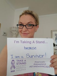 I am taking a stand against domestic violence  #TASNCADV #TakeAStand #STANDwithNCADV @NCADV