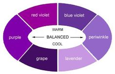 """Warm and cool purple, and """"in-between"""" at the sides."""