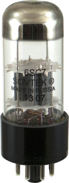 Sovtek 6SC7 high-mu twin-triode preamp tube. Made in Russia www.amplifiedparts.com