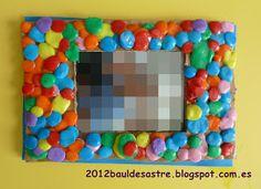 marco de fotos con plastilina