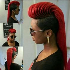 Red #Hair Shaved Sides