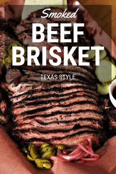 Texas Style Smoked Beef Brisket is more than a recipe, it's a process for melt in your mouth smoked brisket. All you need is salt, pepper, smoke, and time. Brisket Marinade, Beef Brisket Recipes, Bbq Brisket, Smoked Beef Brisket, Smoked Meat Recipes, Texas Brisket, Texas Bbq, Recipies, Rub Recipes