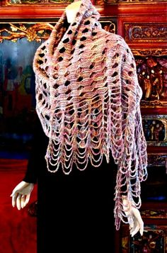 DesigningVashti: The Blog: About That Rivuline Shawl Tunisian Crochet Stitch Pattern