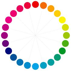 color wheel chart - with values further down on page.