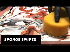 Very Simple Beginner Technique for Swiping! Flow Painting, Sponge Painting, Acrylic Painting Lessons, Pour Painting, Painting Techniques, Dyi Painting, Painting Abstract, Acrylic Pouring Art, Acrylic Wall Art