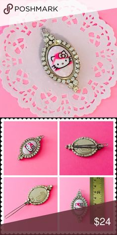 💖Tarina Tarantino Hello Kitty Hair Barrette💖 Authentic Tarina Tarantino Hello Kitty Collection hair clip featuring her signature cameo setting & genuine Swarovski Crystal rhinestones. Worn once or twice, it's in excellent condition with no pieces/stones missing, is clean & only sign of wear is a tiny bit of tarnish on back of clip which is not seen when worn. Metal brand stamp tag on back for proof of authenticity. PRICE FIRM unless bundled for bundle discount! 💖 Tarina Tarantino…