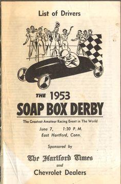 1953 Soap Box Derby Driver List E Hartford CT
